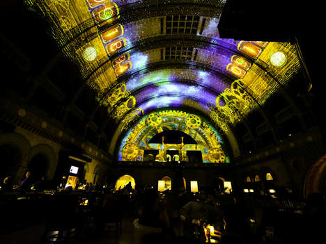 Projection-Mapped Train Stations - Technology Gives a New Face to the St. Louis Union Station