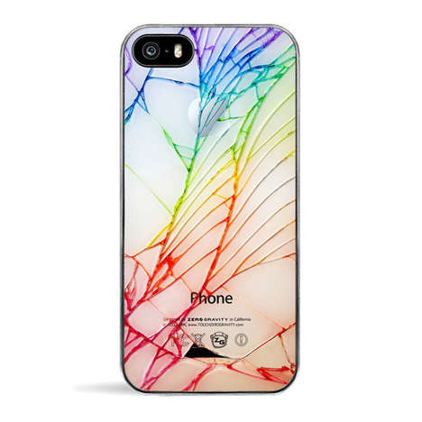Deceivingly Cracked Phone Cases - The Rainbow Cracked iPhone Case is Sure to Trick Onlookers