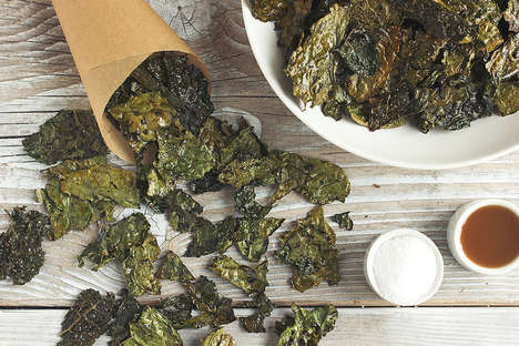 Seasoned Snack Alternatives - This Kale Chips Recipe Creates a Healthy Salt and Vinegar Flavor