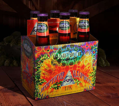 Holographic Beer Boxes - The Branding for Hoptical Illusion Uses 3D Holographic Film