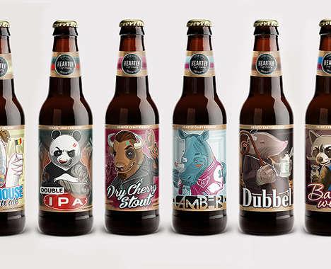 Anthropomorphic Beer Logos