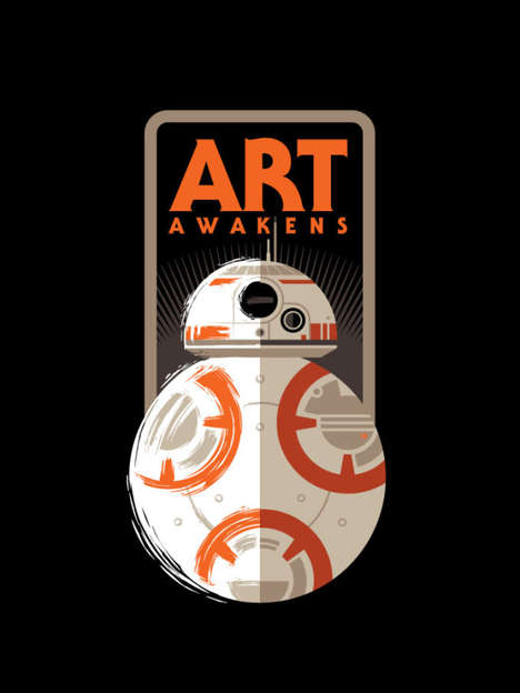 Sci-Fi Fandom Exhibits - 'Art Awakens' Gathers Fan Art to Celebrate the Star Wars Reboot