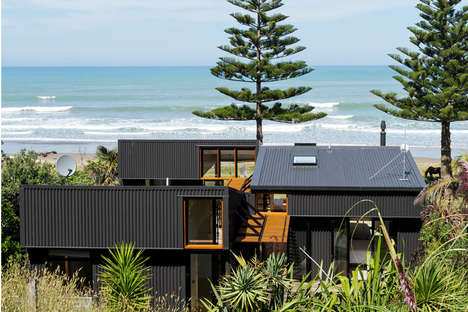 Industrial Summer Homes - This Interconnected Beach House Mixes Minimalism and Industrial Designs