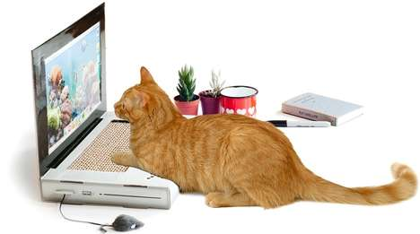 Computer Cat Scratch Pads - This Cat Scratcher Laptop Lets Your Favorite Feline Surf the Web