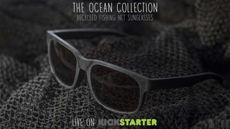 Upcycled Ocean Trash Eyewear - These Sunglasses are Made from Recycled Fishing Nets