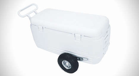 Rugged All-Terrain Coolers - This Cooler Helps You Carry Drinks and Snacks Across Rough Terrain