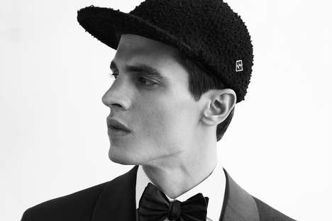 Rabbit Felt Hats - The NOIR Collection Features High-End Head Accessories in Pure Black Fabrics