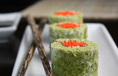 Matcha Sushi Cakes - This Healthy Green Cake Mirrors the Look of Sushi Rolls