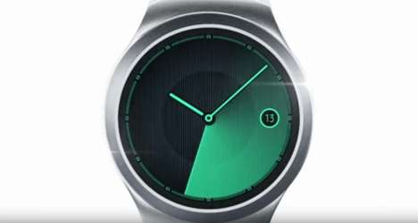 Stylish Round Smartwatches - The Samsung Gear S2 is a Sleek Take on Wearable Technology