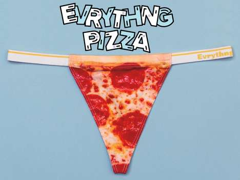 Pizza-Shaped Panties - This Pizza Panties are Designed with Pepperonis & Packaged Like Take-Out