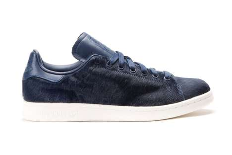 Faux Pony Hair Sneakers - The Latest Adidas Originals Stan Smith Sneakers Feature Faux Animal Hair
