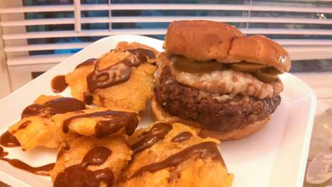 Pun-Tastic Spicy Burgers - This Burger With Plantains is Inspired by the TV Show Bob's Burgers