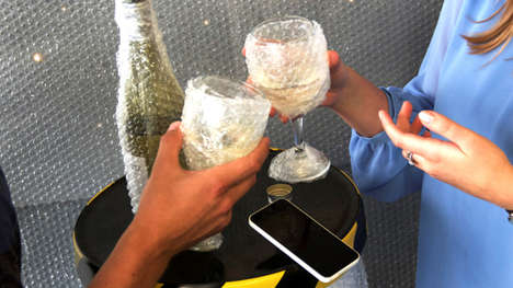 Bubble-Wrapped Bars - iCracked Creates an Ultra Safe Environment for Phones at the Bar