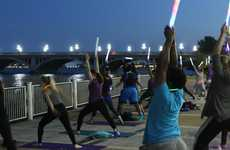 Nighttime Yoga Initiatives - Detroit Hosts Classes to Practice Yoga with the Moon Using Batons