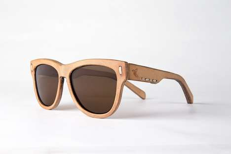 Handmade Leather Sunglasses - This Eyewear by Jbird Collective Bends the Rules of Regular Sunglasses