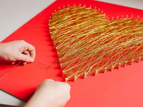 DIY String Hearts - This String Art Tutorial is the Perfect Craft for Valentine's Day