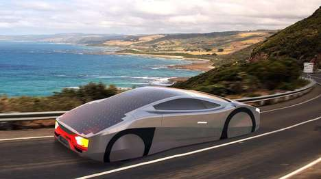 Aerodynamic Solar Cars - The Immortus Sports Car is Capable of Providing Unlimited Range