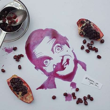 Raw Food Portraits - This Artist Uses Food as a Medium to Create Intricate Artwork