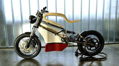 Non-Traditional Motorbikes - The e-raw Electric Motorbike Pushes the Boundaries of Motorcycle Design