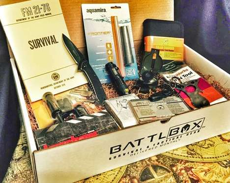 Apocalyptic Survival Kits - Battlbox Delivers Hardcore Survival Supplies to Subscribers' Doorsteps