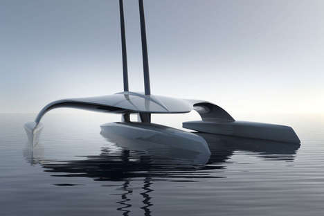 Autonomous Sailing Vessels - Shuttleworth Design's Floating Vessel Boasts an Unmanned Design