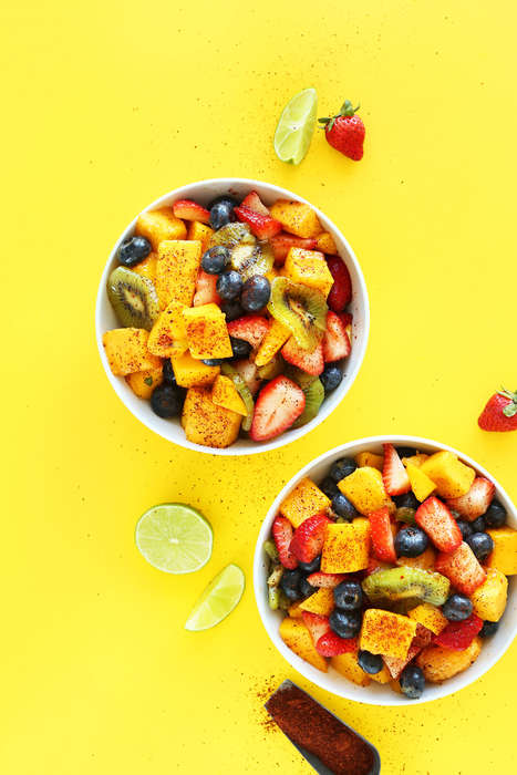 Spicy Fruit Salads - This Tasty Vegan Dish Offers the Perfect Blend of Sweet and Spicy Flavors