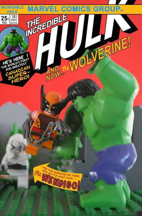 LEGO Comic Book Covers - This Artist Recreates Superhero Comic Book Scenes Using Toy Blocks