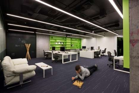 Gamified Work Spaces - The MacPaw Office Space is Designed with Elements of a Computer Chip