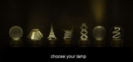 Optical Illusion Lamps - These 'Luminosquare' Lamps Emit Changeable Optical Illusions