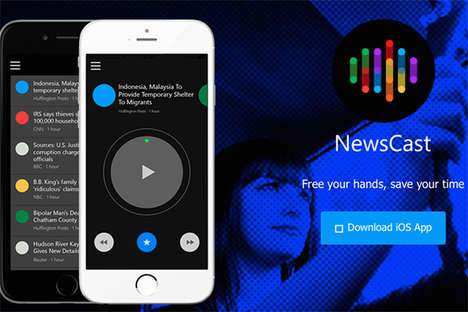 Audible News Apps - 'NewsCast' is a Handy News-Reading App That Ditates Breaking Stories