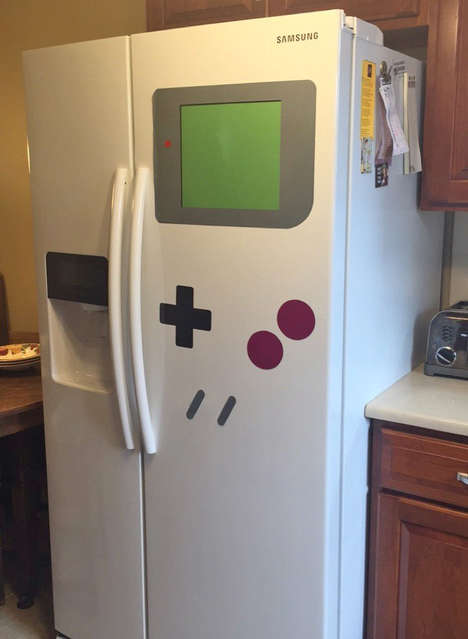 Vintage Video Game Decor - These Gameboy Magnets Turn Fridges into Giant Gaming Devices