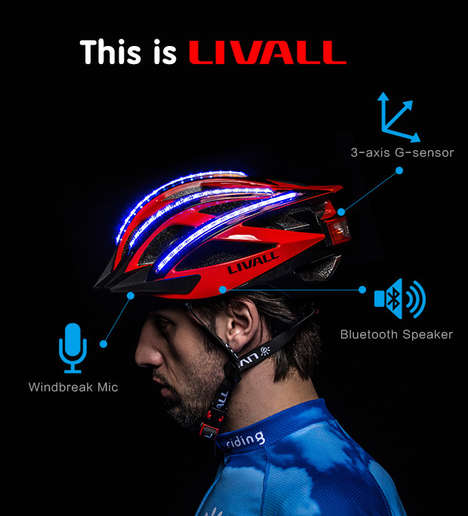 Intuitive Bike Helmets - The 'LIVALL' Smart Helmet Keeps You Connected While on the Go