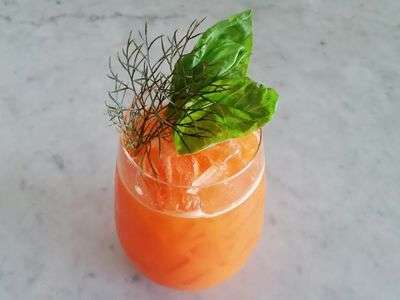 Savory Carrot Cocktails - This Decadent Boozy Beverage is Loaded With Vegetables and Dry Gin