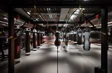 Monochromatic Boxing Centers - This Moody Design-Focused Boxing Gym Resembles a Nightclub