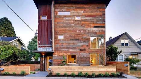 Reclaimed Wood Homes - This Dwell Development Home Features Green Technology and Renewables