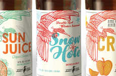 Bird-Adorned Beer Labels - This Elegant Bird Art Represents Stony Creek Brewery's Seasonal Brews