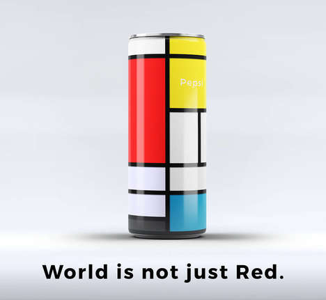 Modernist Soda Cans - These New Pepsi Cans Draw Inspiration from Famous Works of Abstract Art