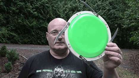 Weaponized Frisbees - This Frisbee is Rimmed With Dastardly Surgical Scalpels