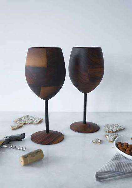 Wooden Cocktail Cups - These Modern Wooden Cups Add a Playful Sophistication to Home Bars