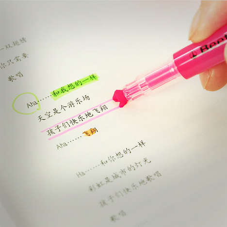 Customized Multipurpose Highlighters - These Highlighter Pens Have Three Different Marking Uses