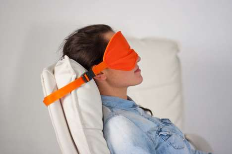 Upright Sleeping Masks - This Travel Sleeping Mask Prevents Heads from Lolling to One Side
