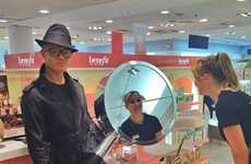 Taking Beauty Mirrors - Benefit's 'Theyre Real' Tour Features a Magnifying Mirror that Speaks
