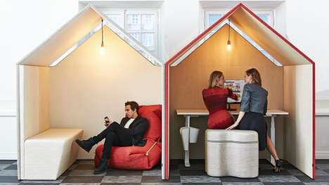 Hut-Shaped Office Furniture - This Modern Workspace Furniture is Inspired by a Room-in-Room Concept