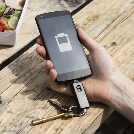 Portable Keychain Chargers - This Tiny Lifesaver is Easy to Carry and Gives You Extra Phone Time