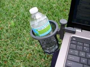 Laptop Drink Holders - The 'Laptop Butler' Saves Users from Unwanted Spills
