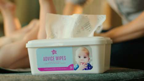 Parenting Baby Wipes - Tommee Tippee's 'Advice Wipes' are Made From Recycled Parenting Publications