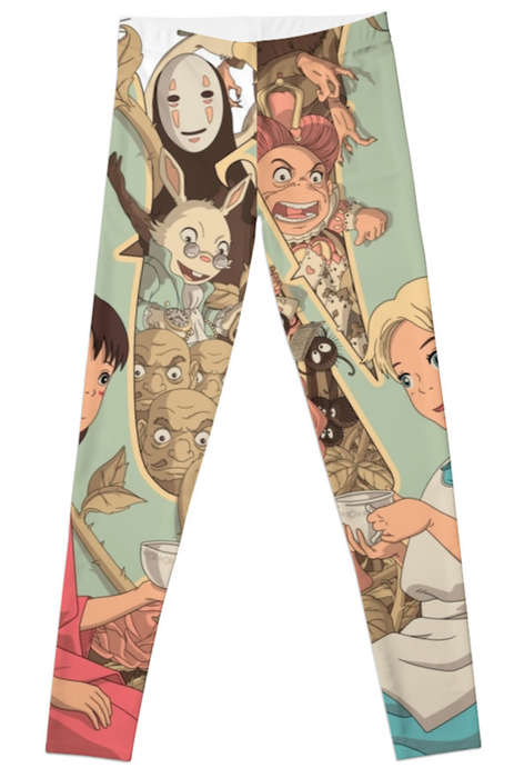 Whimsical Anime Leggings - These Alice in Wonderland Pant Designs are Ideal for Fans of the Book