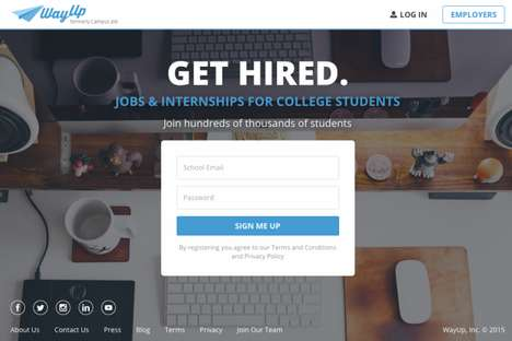 Off-Campus Job Platforms - The 'WayUp' Start-Up Helps Students Find Part-Time Job Opportunities