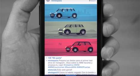 Social Car Test-Drives - MINI's 'INSTADRIVE' Recreates the Driving Experience on Social Media