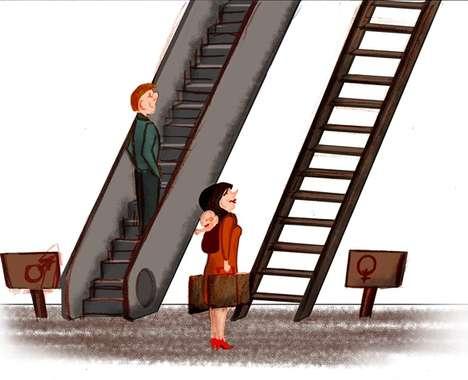 Inequality-Exposing Illustrations
